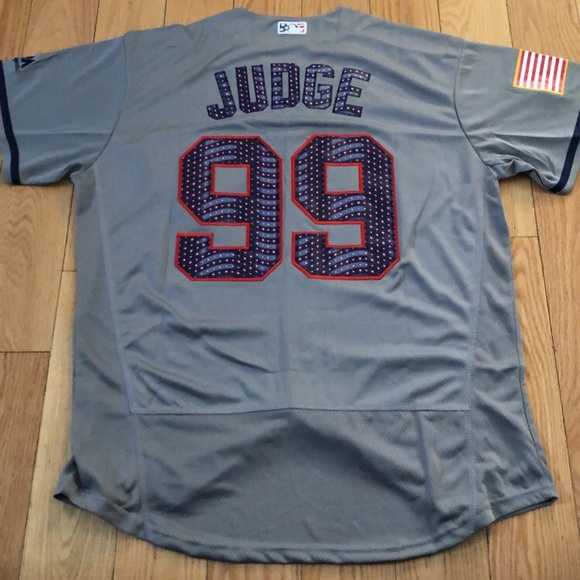 los angeles 57bc2 20605 Majestic Flex Base NY Yankees #99 Aaron Judge July NWT